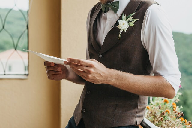 会費制結婚式の本文の書き方文例
