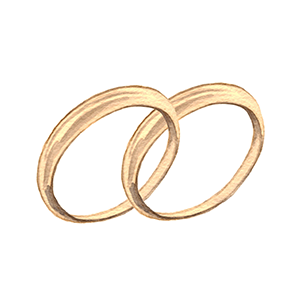 結婚指輪を決める