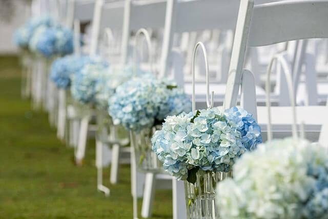 6月の結婚式の花あじさい