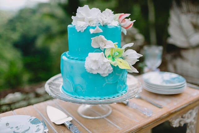 ハワイウェディングのウェディングケーキ