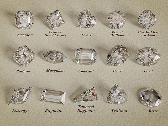 ダイヤモンドのペアシェイプカット