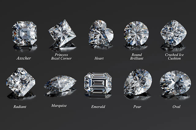 ダイヤモンドのハートカット