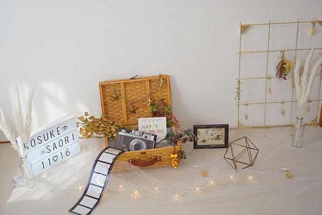 フォトウェディングや結婚式の撮影小物