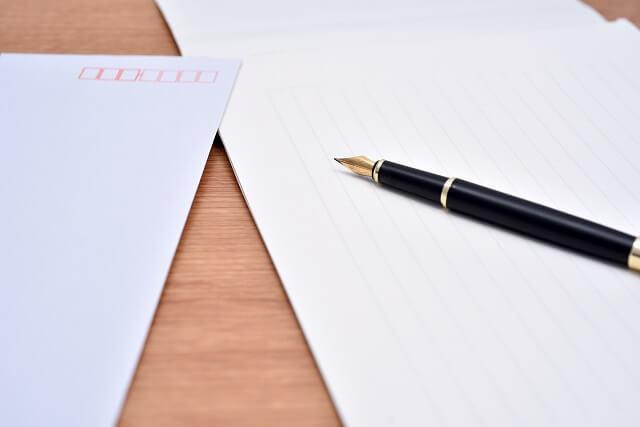 正式なマナーに沿ったお礼状の封筒便箋のサイズ、色