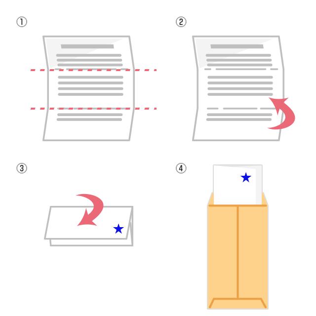 和封筒の縦書き便箋の折り方と入れ方