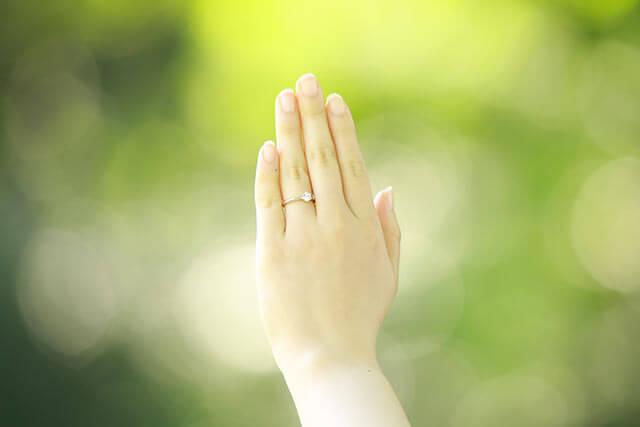結納の婚約指輪