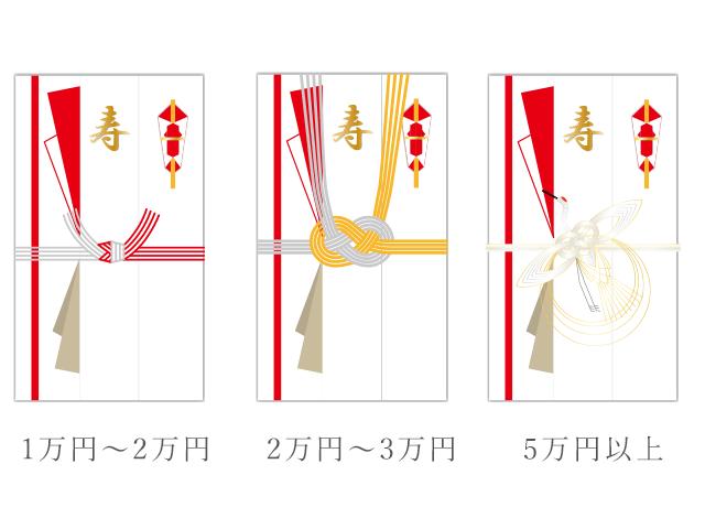 結婚祝いののし袋(ご祝儀袋)のデザイン