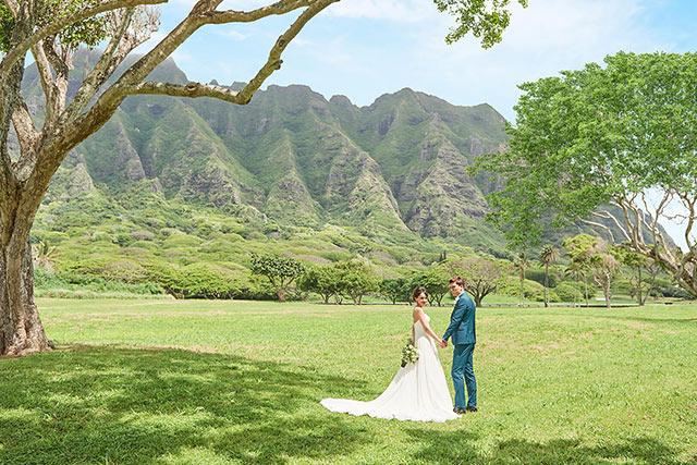 ハワイでウェディングフォト