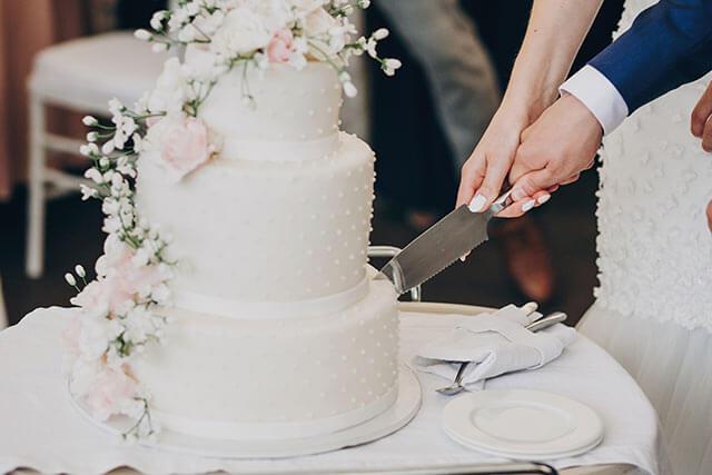 ウェディングケーキの演出
